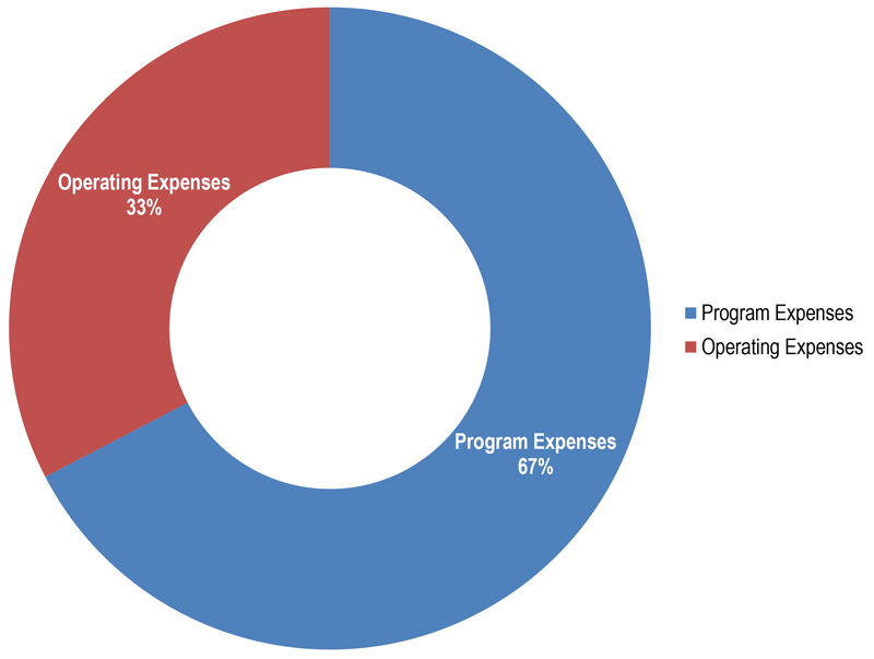 Pie Chart of Expenses 2014-2015