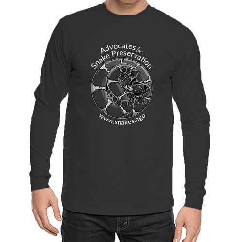 Dark long-sleeve logo shirt