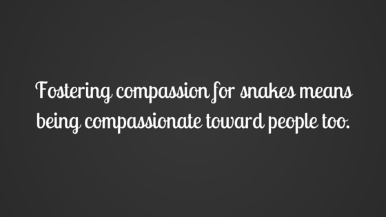 Fostering compassion for snakes
